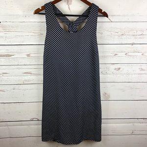Pixley Navy Blue White Polka Dot Sun Dress